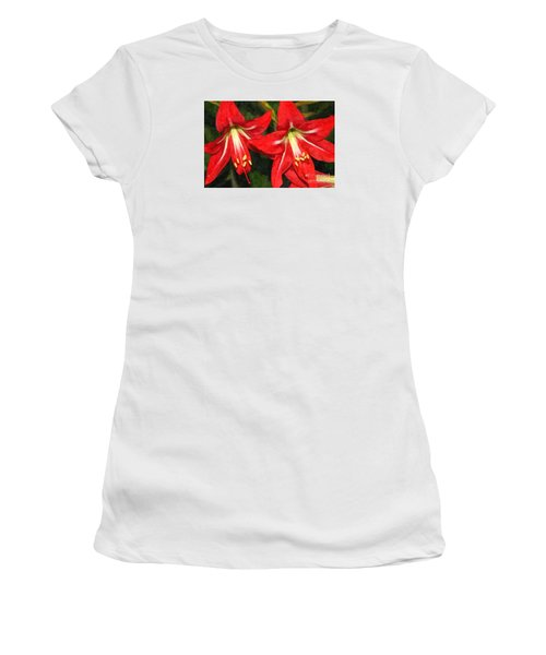 Amaryllis Lily Women's T-Shirt