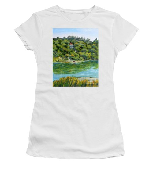 Red Canoe Women's T-Shirt (Junior Cut) by William Reed