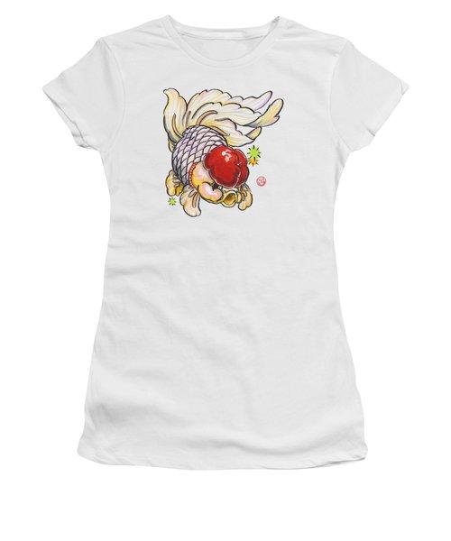 Red Cap Mixed Ranchu Women's T-Shirt (Junior Cut) by Shih Chang Yang