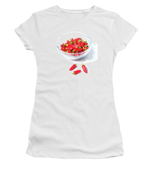 Red Chillies In A Bowl II Women's T-Shirt (Athletic Fit)