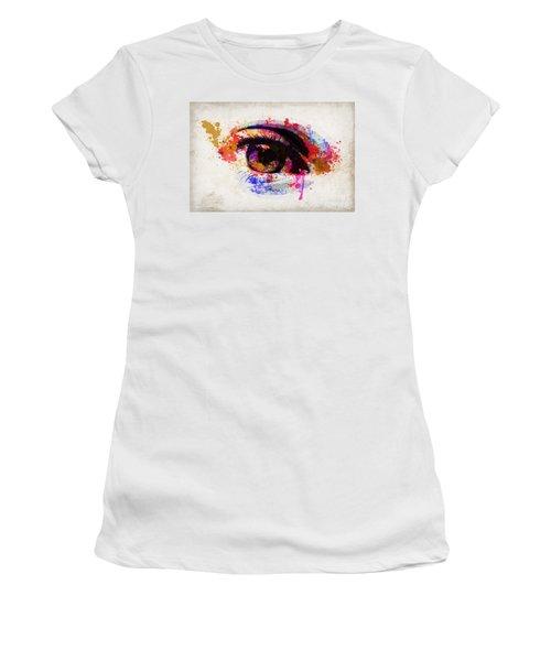 Red Eye Watercolor Women's T-Shirt