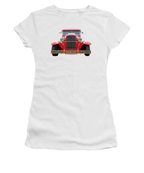 Red Ford Coupe Head On Women's T-Shirt