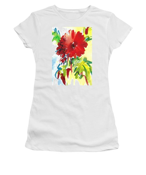 Gerberas Red, White, And Blue Women's T-Shirt (Athletic Fit)