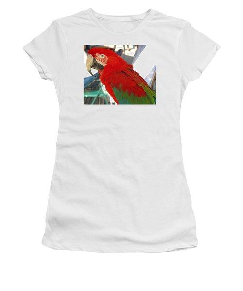 Red Head Women's T-Shirt (Junior Cut) by Barbara McDevitt