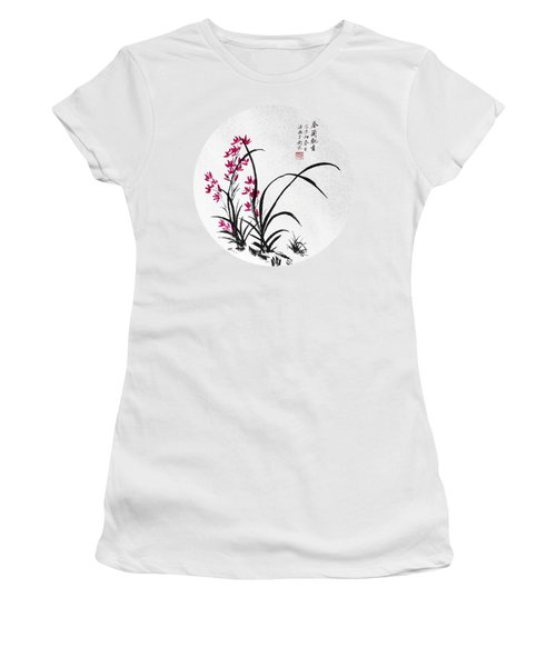 Red Iris - Round Women's T-Shirt (Athletic Fit)