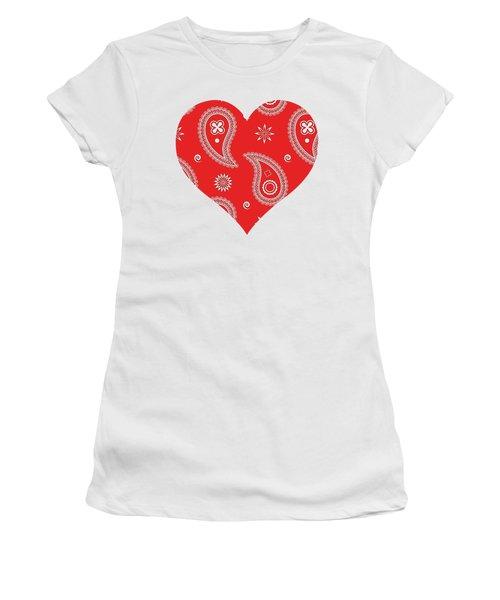 Red Paisley Women's T-Shirt