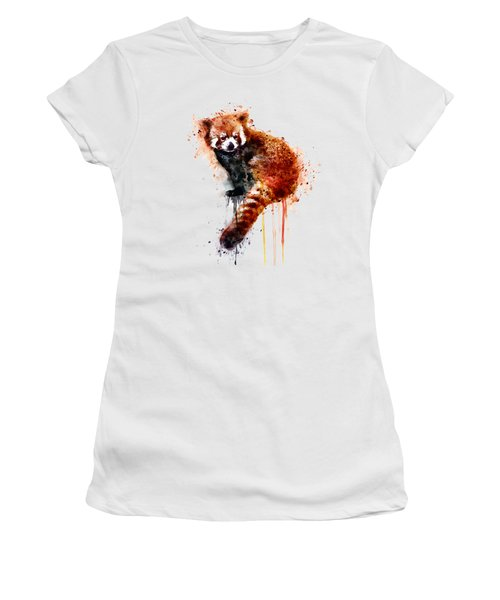 Red Panda Women's T-Shirt (Athletic Fit)