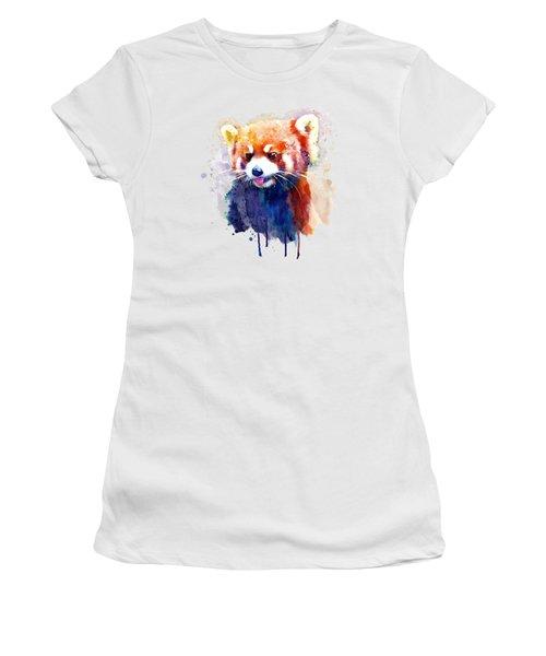 Red Panda Portrait Women's T-Shirt (Athletic Fit)