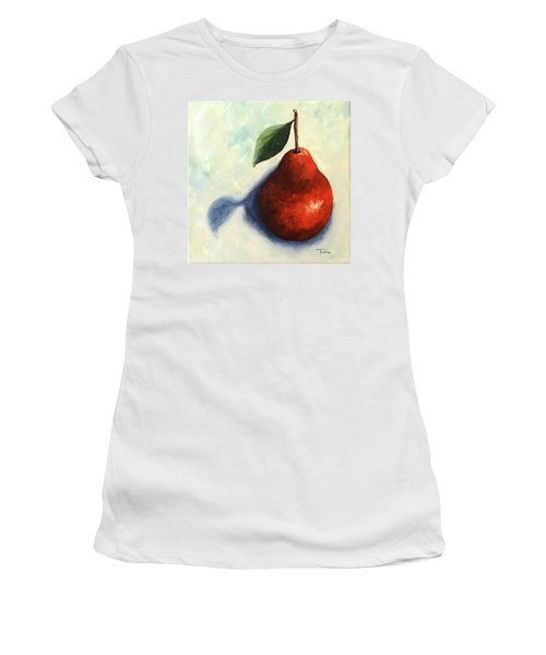 Red Pear In The Spotlight Women's T-Shirt (Athletic Fit)