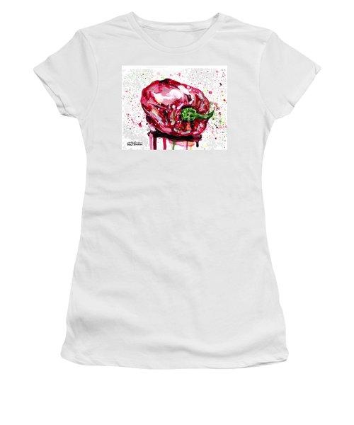 Red Pepper Women's T-Shirt (Junior Cut) by Arleana Holtzmann