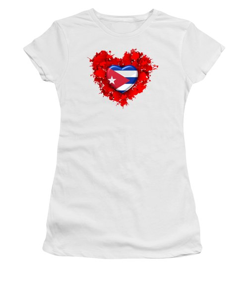 Red Stain Love To Cuba Women's T-Shirt