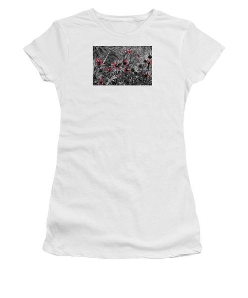 Red Streaks Women's T-Shirt (Junior Cut) by Deborah  Crew-Johnson