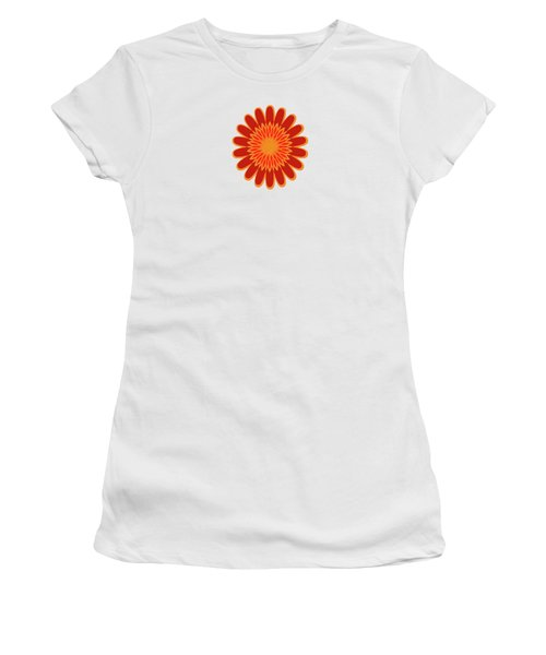 Red Sunflower Pattern Women's T-Shirt (Athletic Fit)