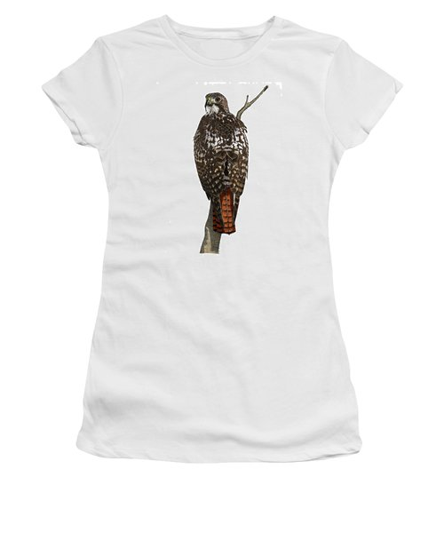 Red-tailed Hawk - Color Women's T-Shirt (Athletic Fit)
