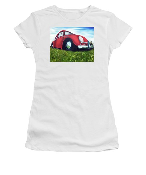 Red Vw Women's T-Shirt (Athletic Fit)