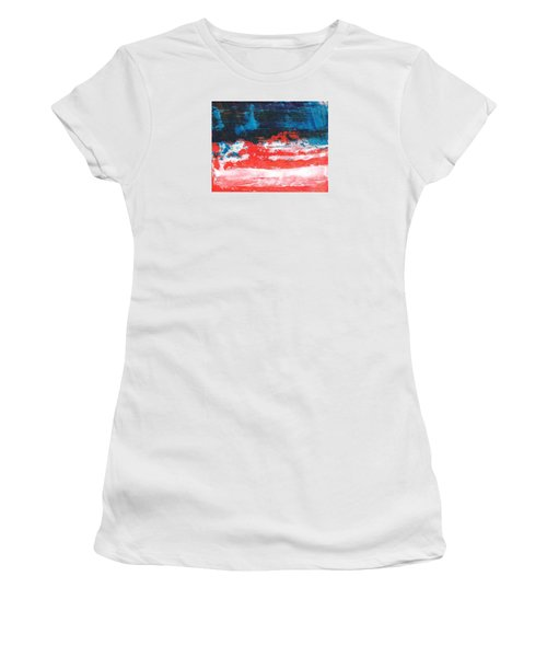 Red White Blue Scene Women's T-Shirt (Athletic Fit)