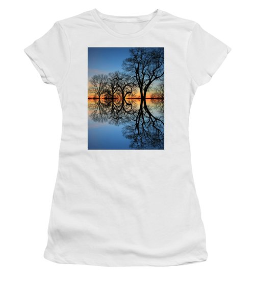 Women's T-Shirt (Junior Cut) featuring the photograph Reflecting On Tonight by Chris Berry