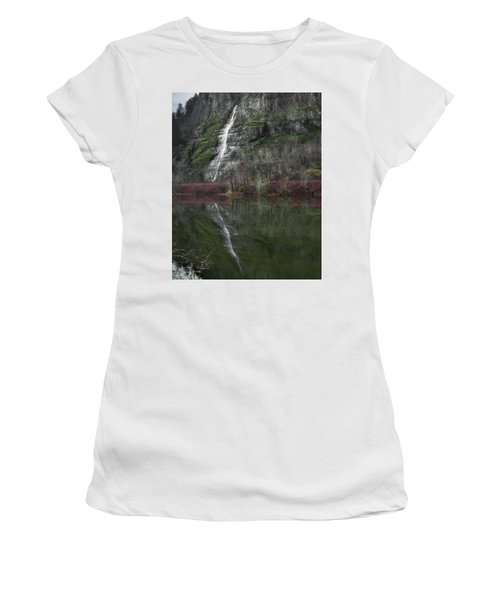 Reflection Of A Waterfall Women's T-Shirt