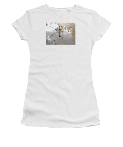 Puddle Reflections  Women's T-Shirt (Junior Cut) by Sandra Church