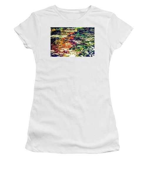 Reflection On Oscar - Claude Monet's  Garden Pond  Women's T-Shirt