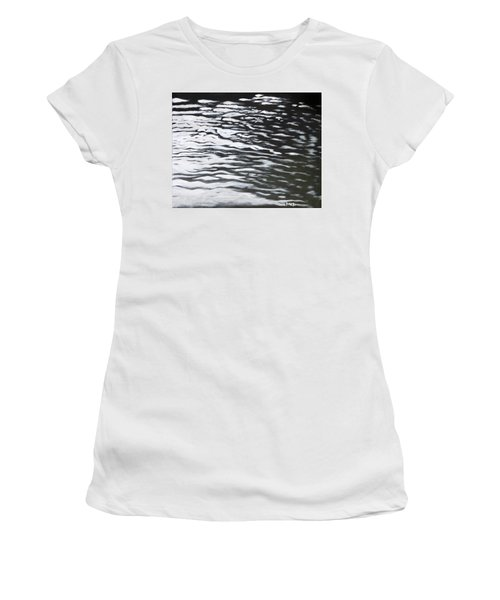 Women's T-Shirt (Junior Cut) featuring the painting Reflections by Antonio Romero