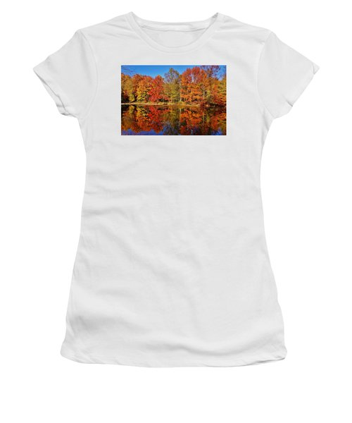 Reflections In Autumn Women's T-Shirt (Junior Cut) by Ed Sweeney