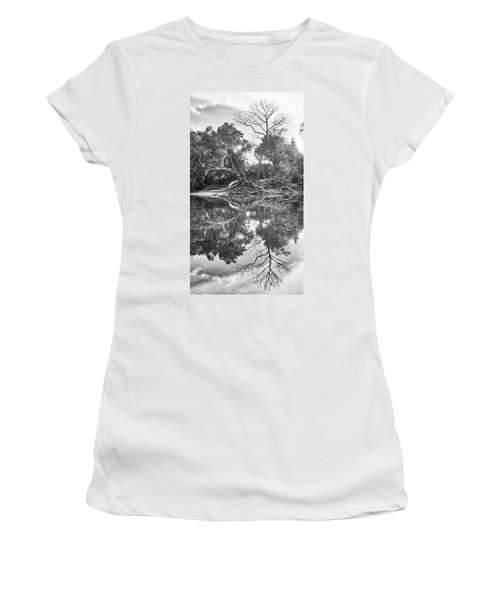 Reflections In Black And White Women's T-Shirt