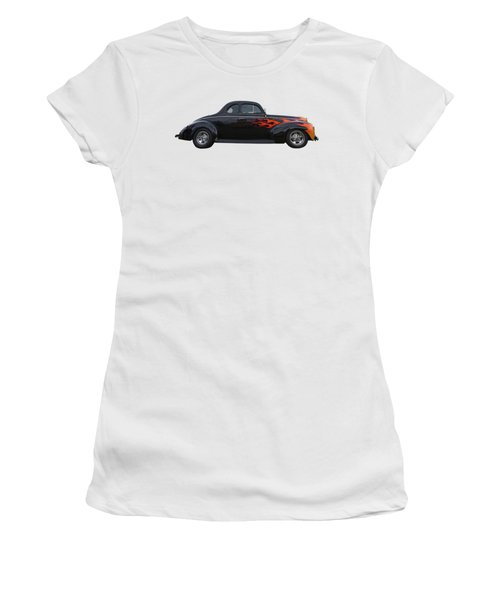 Reflections Of A 1940 Ford Deluxe Hot Rod With Flames Women's T-Shirt