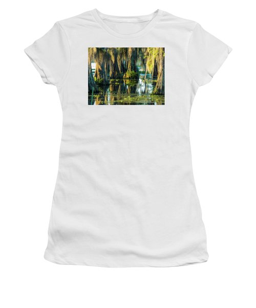 Reflections Of The Times Women's T-Shirt (Junior Cut) by Kimo Fernandez