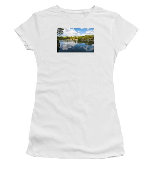 Women's T-Shirt (Junior Cut) featuring the photograph Reflections by Pravine Chester