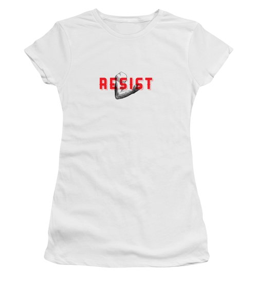 Women's T-Shirt (Junior Cut) featuring the photograph Reisist Arm Tee by Edward Fielding