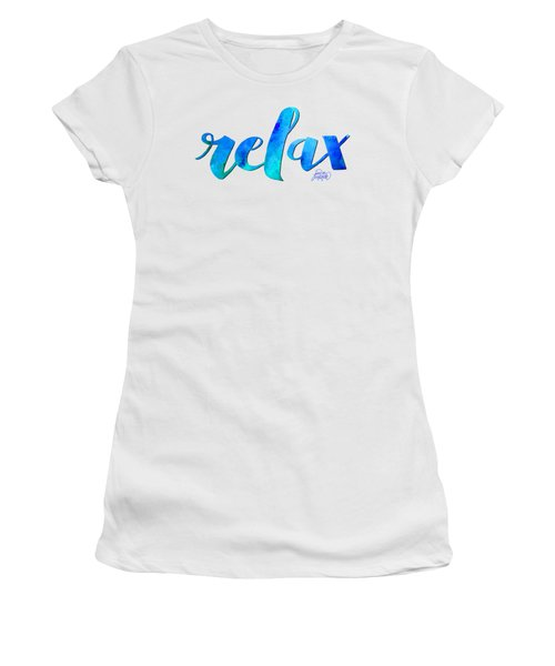 Relax Watercolor Women's T-Shirt (Athletic Fit)
