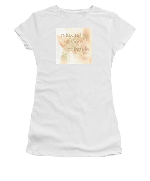 Women's T-Shirt (Junior Cut) featuring the painting Relaxing by Kandy Hurley