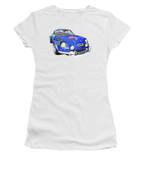 Renault Alpine A110 Women's T-Shirt (Junior Cut) by Alain Jamar