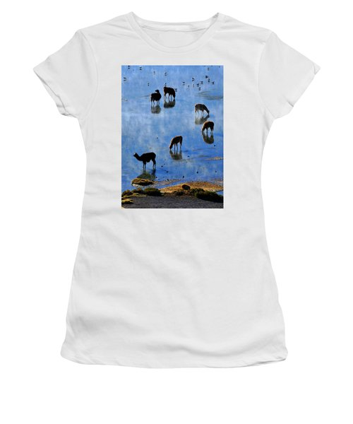 Women's T-Shirt (Junior Cut) featuring the photograph Rendezvous by Skip Hunt