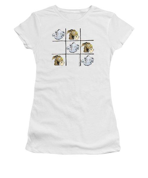 Republicans Win Tic Tac Toe Women's T-Shirt