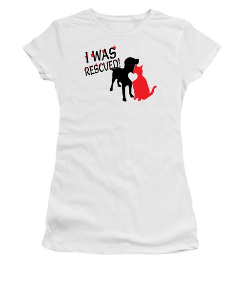 Rescued  Women's T-Shirt (Athletic Fit)