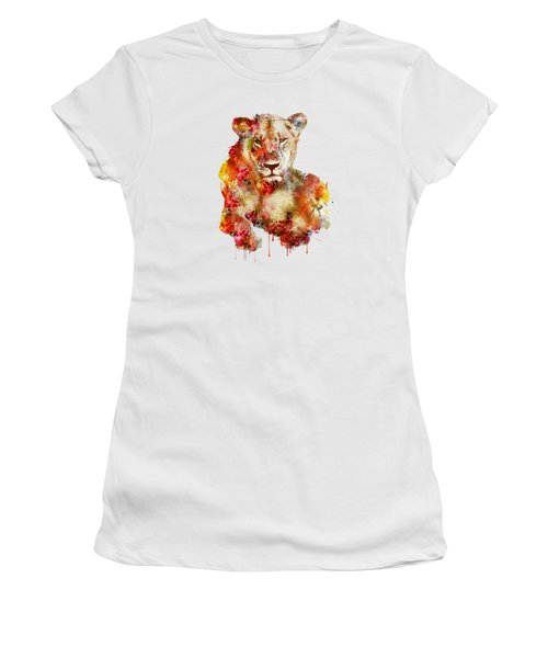 Resting Lioness In Watercolor Women's T-Shirt