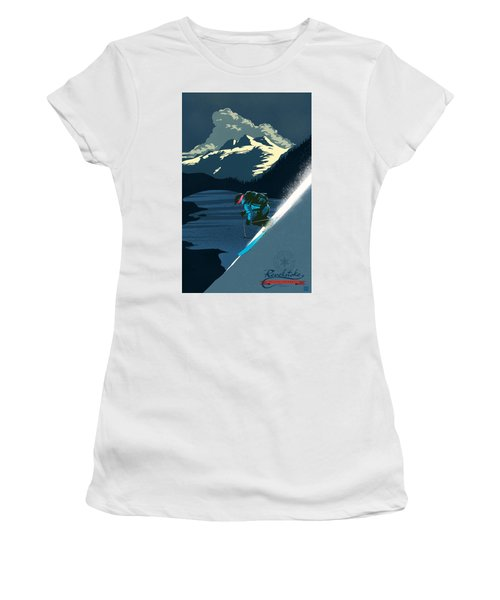 Retro Revelstoke Ski Poster Women's T-Shirt (Athletic Fit)