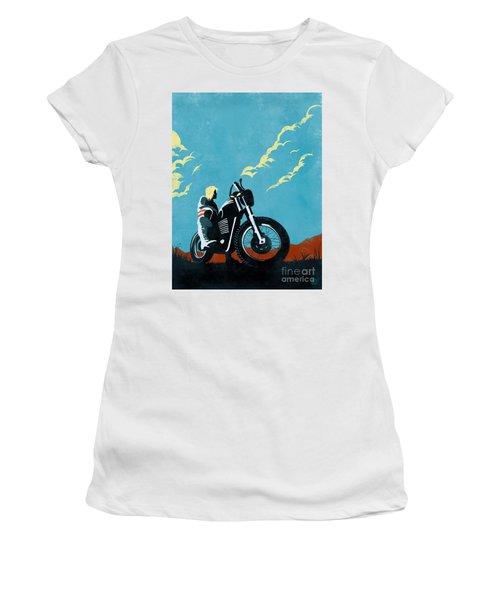 Retro Scrambler Motorbike Women's T-Shirt