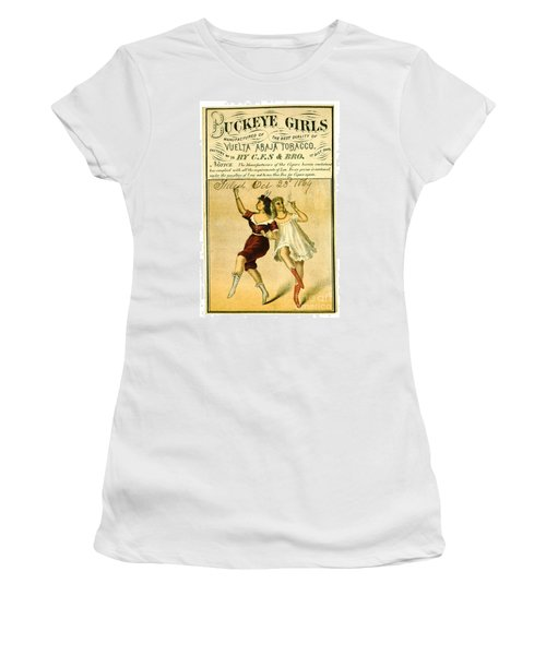 Women's T-Shirt (Junior Cut) featuring the photograph Retro Tobacco Label 1869 F by Padre Art