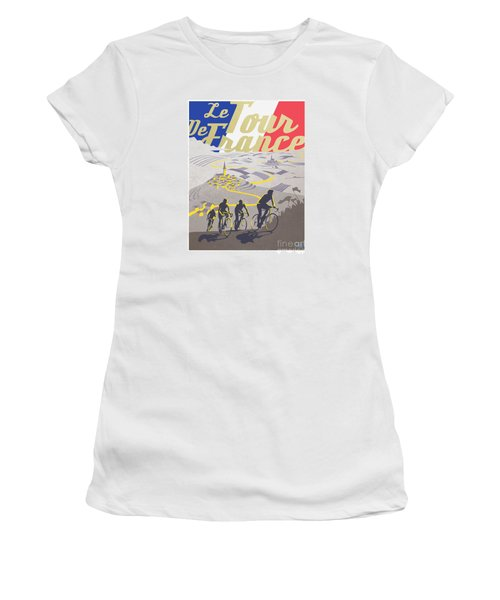 Retro Tour De France Women's T-Shirt (Athletic Fit)