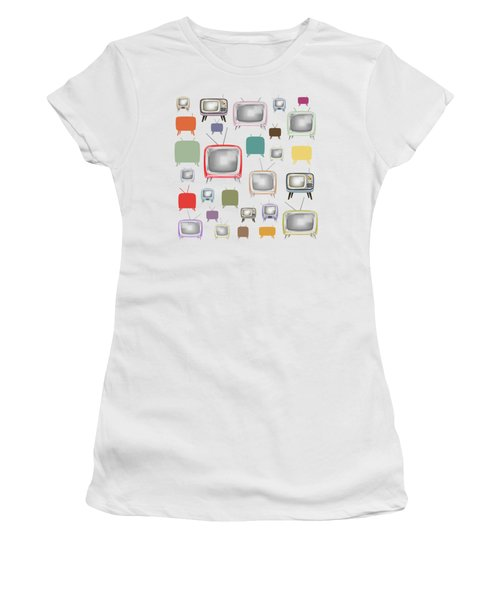 Retro T.v. Women's T-Shirt (Athletic Fit)
