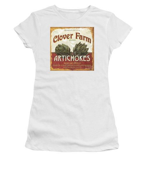 Retro Veggie Labels 1 Women's T-Shirt (Athletic Fit)