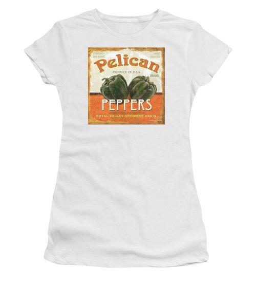 Retro Veggie Labels 3 Women's T-Shirt (Athletic Fit)