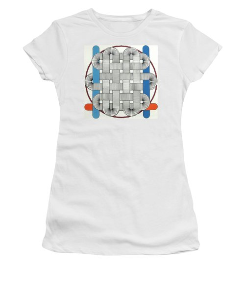 Women's T-Shirt featuring the drawing Rfb1004 by Robert F Battles