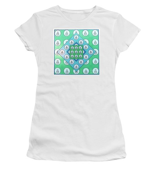 Women's T-Shirt featuring the drawing Rfb1021 by Robert F Battles