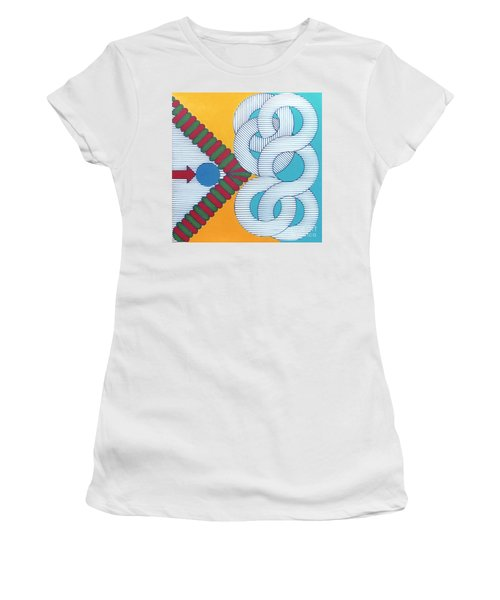 Women's T-Shirt featuring the drawing Rfb1024 by Robert F Battles