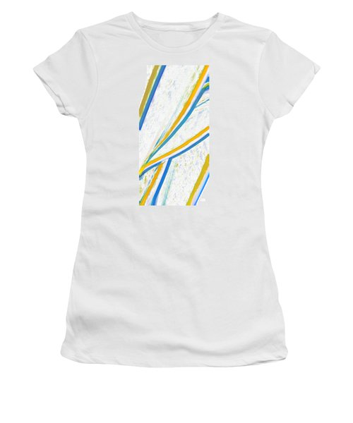 Women's T-Shirt (Junior Cut) featuring the digital art Rhapsody In Leaves No 1 by Ben and Raisa Gertsberg