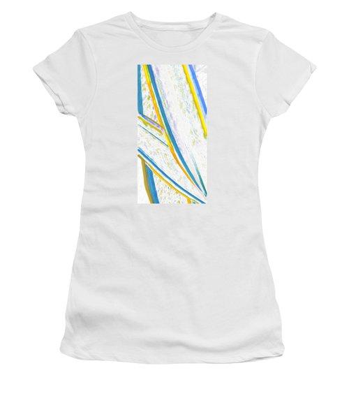 Women's T-Shirt (Junior Cut) featuring the digital art Rhapsody In Leaves No 2 by Ben and Raisa Gertsberg